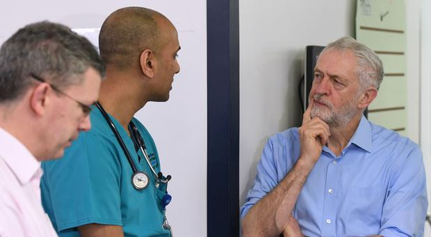 Jeremy Corbyn visit to Milton Keynes University Hospital