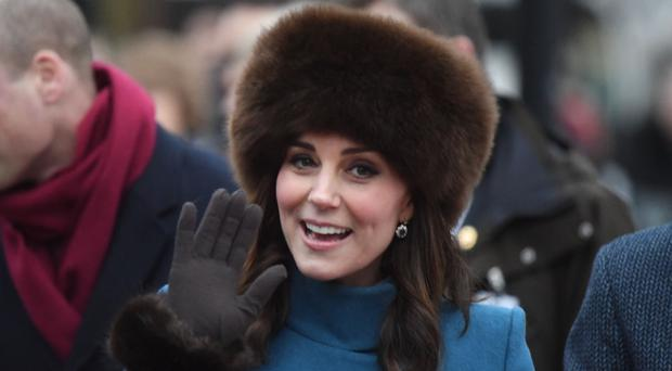 Kate donned suitable winter headgear on her visit to snowy Norway (VIctoria Jones/PA)
