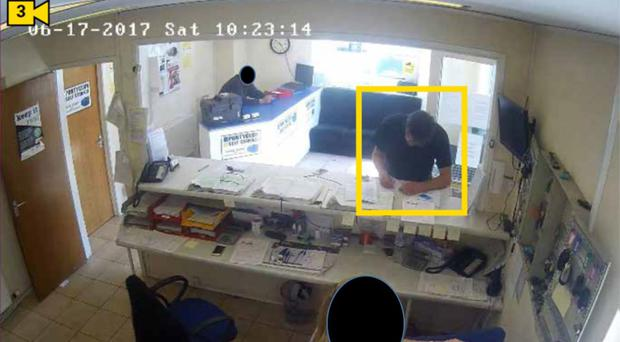 Handout from CCTV showing Darren Osborne at a van hire office in Pontyclun, Wales. (Metropolitan Police/PA)