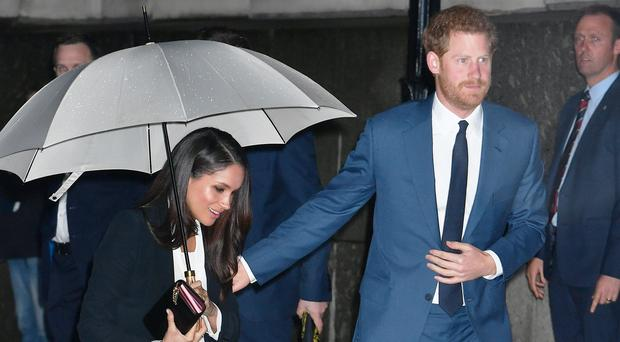 Prince Harry and Meghan Markle arrive at Goldsmiths' Hall (John Stillwell/PA)