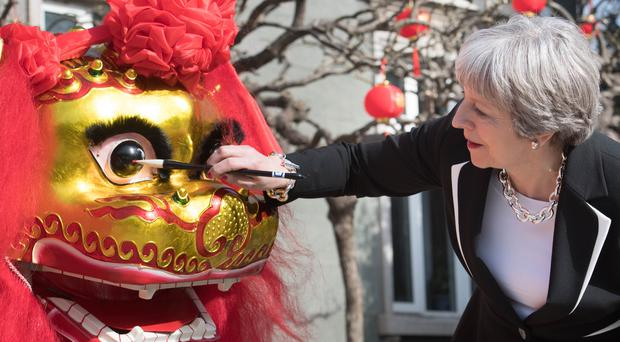 Theresa May has been on a three-day visit to China (Stefan Rousseau/PA)