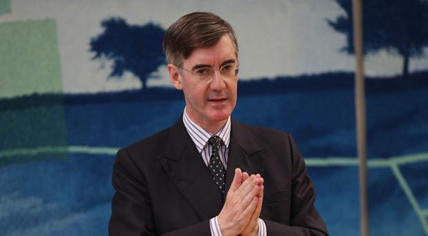 Jacob Rees-Mogg MP speaking at a previous engagement (Yui Mok/PA)