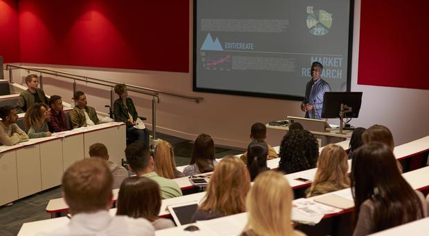 Students at a university lecture (monkeybusinessimages/Getty)