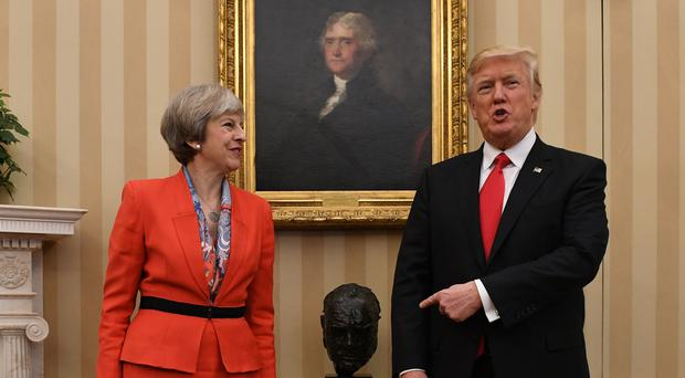 Theresa May with Donald Trump (Stefan Rousseau)