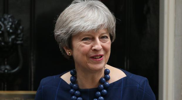 Theresa May has spoken out about the problem of online abuse (Jonathan Brady/PA)