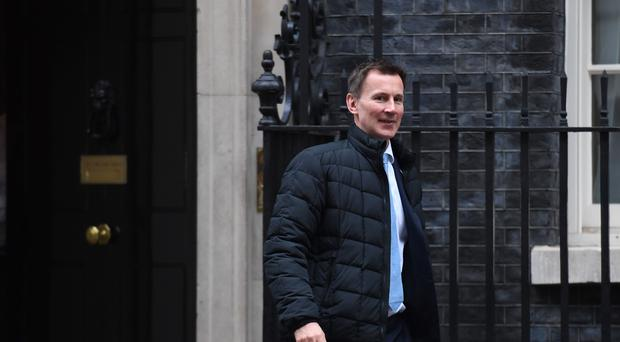 Jeremy Hunt launched a 'rapid review' into gross negligence manslaughter in healthcare (Stefan Rousseau/PA)