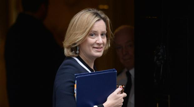 Amber Rudd said it was 'incredibly important' to call out abuse (Victoria Jones/PA)