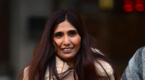 Nasreen Akhter outside the High Court in central London where a judge was asked to decide whether an estranged couple who took part in an Islamic wedding ceremony in a London restaurant are validly married (Kirsty O'Connor/PA)