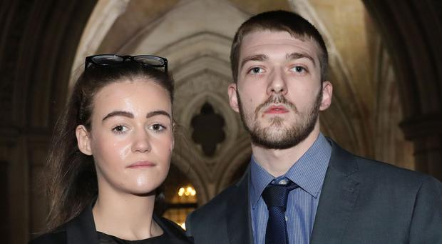 Tom Evans and Kate James want to take their son Alfie Evans to a hospital in Rome (Philip Toscano/PA)