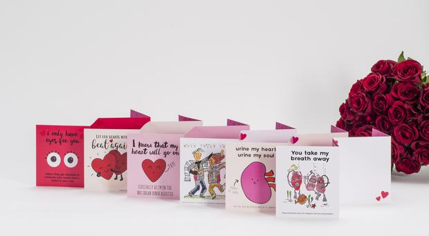NHS Blood and Transplant is encouraging people to send organ donor Valentines cards (NHSBT/Moonpig/PA)