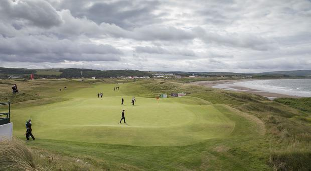 Coastal links golf courses at risk from climate change (Kenny Smith/PA).