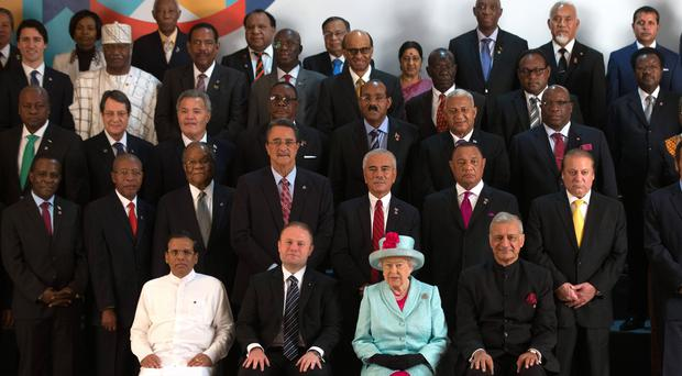 The Queen with world leaders at the opening ceremony of the 2015 Commonwealth Heads of Government Meeting in Malta (Matt Cardy/PA)
