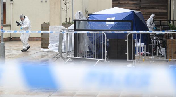 Police at the scene outside the Missoula nightclub in Durham (Owen Humphreys/PA)