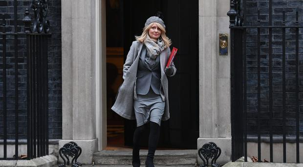 Work and Pensions Secretary Esther McVey in Downing Street