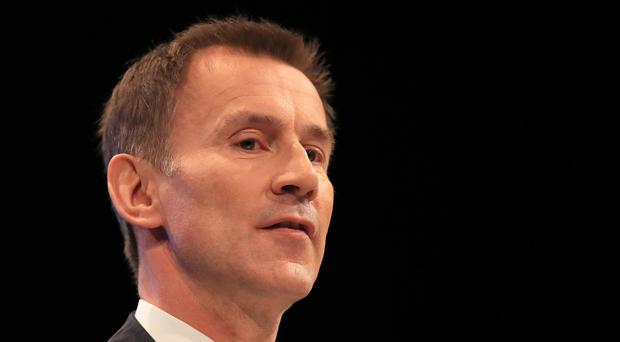 Health and Social Care Secretary Jeremy Hunt (Peter Byrne/PA)