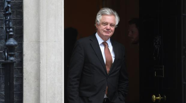 David Davis has hit back at the EU over transition terms (Victoria Jones/PA)