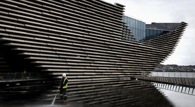 The exterior of the £80 million VandA Dundee has now been completed (Andrew Milligan/PA)