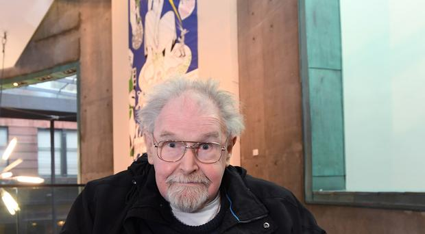 Alasdair Gray at the unveiling of the Facsimilization exhibition at The Lighthouse (Glasgow City Council/PA)