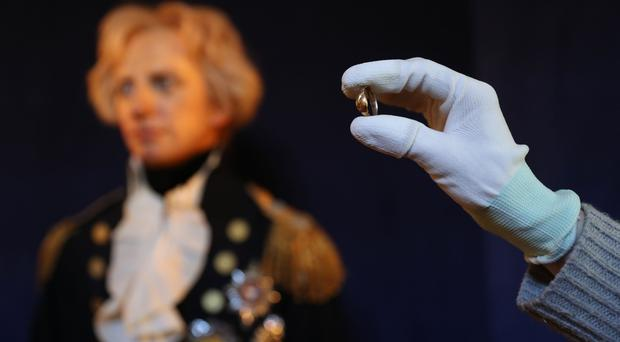 Lord Nelson betrothal ring on display