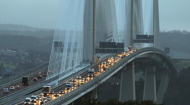 Crash near Queensferry Crossing (Andrew Milligan/PA)