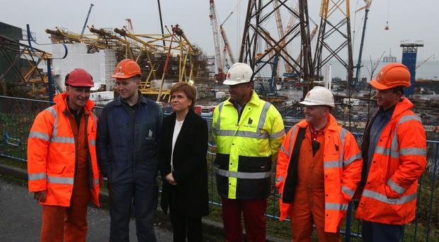 Nicola Sturgeon visit to BiFab