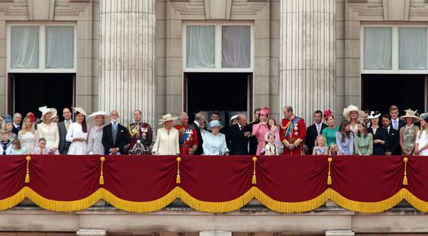 Members of the Royal Family on the balcony at Buckingham Palace (Yui Mok/PA)