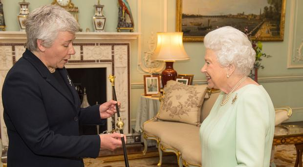 Queen receives the new Black Rod