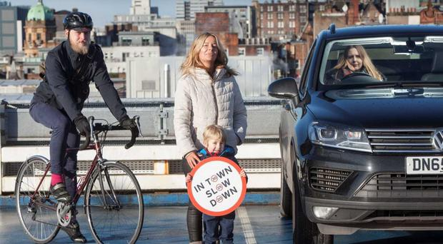 A new In Town Slow Down road safety campaign has been launched (Scottish Government/PA)
