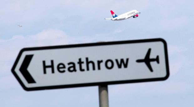 A man has died after a crash involving two airport vehicles at Heathrow (Daniel Leal-Olivas/PA)
