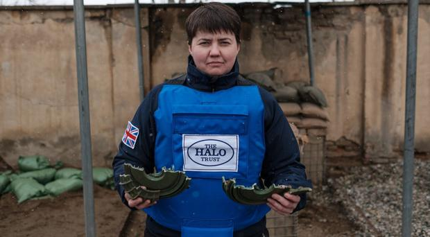 Scottish Conservative leader Ruth Davidson on land mine clearing operations in Afghanistan (Halo Trust/PA)