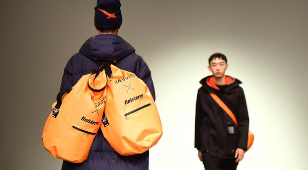 Manbags featured at London Fashion Week (Ian West/PA)