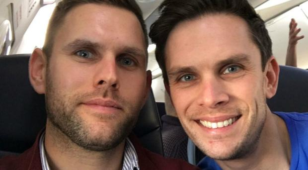 Stuart and Jason Hill, who died in the Grand Canyon helicopter crash (Handout/PA)