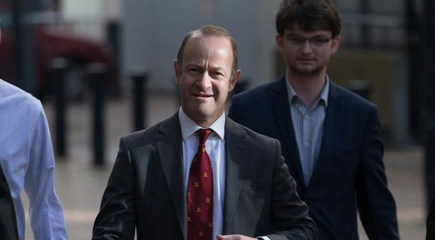 Ukip leader Henry Bolton arrives at the ICC in Birmingham