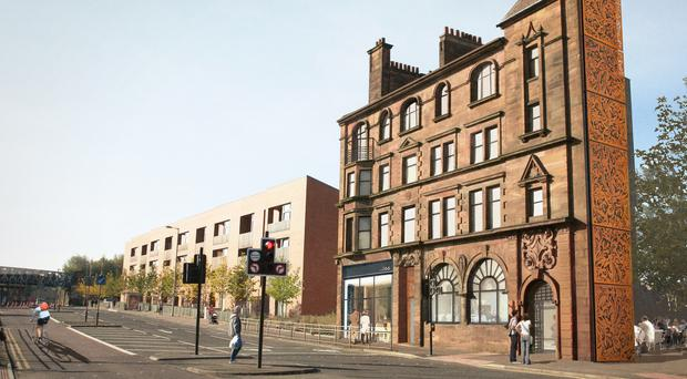 An artists' impression of The former British Linen Bank (Glasgow City Council/ PA)