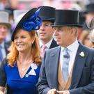 Sarah, Duchess of York and the Duke of York at Ascot (Dominic Lipinski/PA)