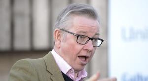 Environment Secretary Michael Gove has insisted the UK will not do trade deals that undermine standards (John Linton/PA)