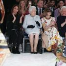 The Queen enjoys her front row seat (Yui Mok/PA)