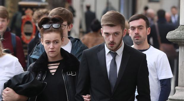 Tom Evans and Kate James, the parents of 21-month-old Alfie Evans, arrive at the High Court in London to see whether they have won a treatment fight with doctors. (Jonathan Brady/PA)