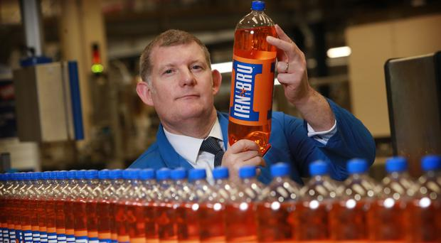 AG Barr chief executive Roger White at the Irn-Bru factory (Stewart Attwood/AG Barr/PA)