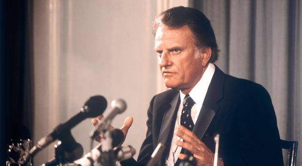 US evangelist Billy Graham has died at his home in North Carolina at the age of 99 (PA)