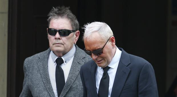 Paul Gascoigne and his father John at the funeral of his nephew Jay Kerrigan-Gascoigne (Owen Humphreys/PA)