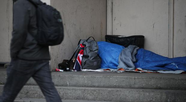 Several public bodies will soon be legally required to refer people at risk of homelessness to a housing authority, the Government announced today (Yui Mok/PA)