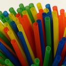 A general view of plastic straws