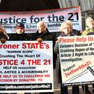Justice 4 the 21 protest