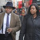 Lanre Haastrup and Takesha Thomas are waiting for a Court of Appeal decision after a High Court judge said doctors could stop providing life-support treatment to their brain-damaged son Isaiah (Philip Toscano/PA)