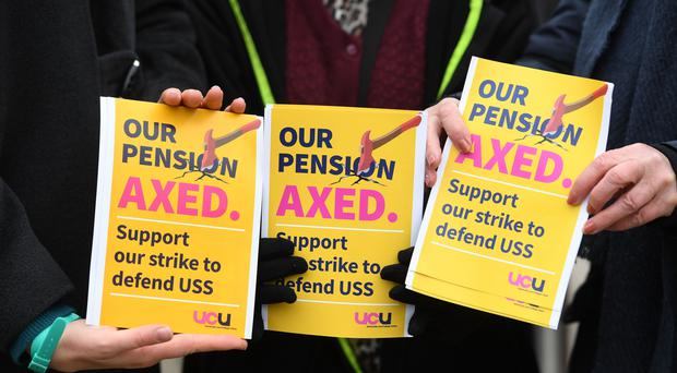 University leaders say they are open talks in a bitter dispute over pensions (Joe Giddens/PA)