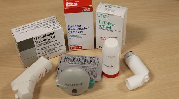 Selection of inhalers used in a study of arthritis patients by the University of Bath (University of Bath/PA)