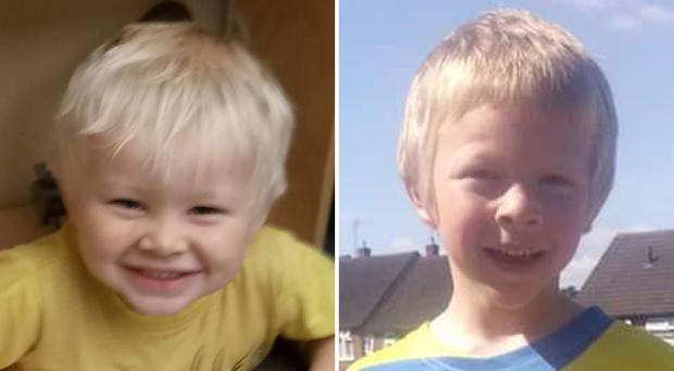 Two people have been charged with causing death by dangerous driving after brothers Corey and Casper Platt-May, aged six and two, were killed in a collision in Coventry (Family handout/PA)