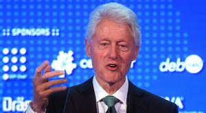 Former US president Bill Clinton delivered the keynote speech at the World Patient Safety Summit in London (Victoria Jones/PA)