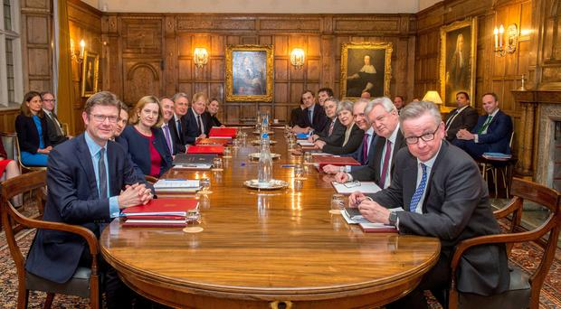 A Brexit sub-committee meeting was held at Chequers this week (Downing Street/PA)